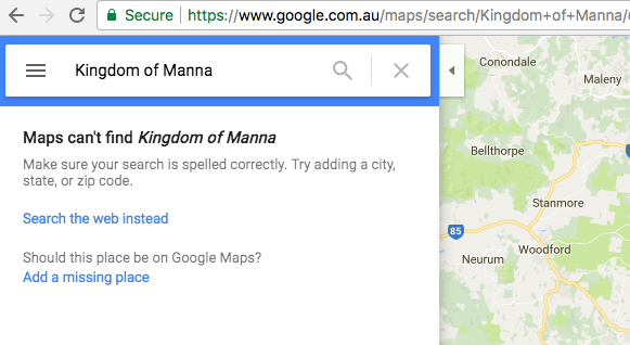 Where is The Kingdom of Manna?